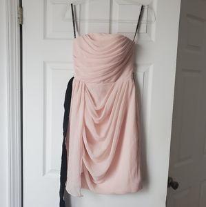 Vera Wang White - Blush Pink Dress -Bridal Size 0